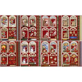 Bild von 3D Decoupageetiketten, Größe 24x19 cm, Weihnachten, 16Bl. [HOB-28858]