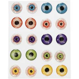 Bild von 3D-Augen-Sticker, D: 20 mm, selbstklebend, 1Bl. [HOB-28993]