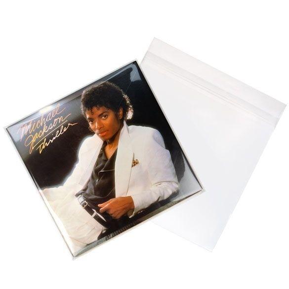 """Bild von 12"""" Außenhüllen doppele LP Albumhüllen (laminiert) 32.7x31.6 + 3.9 cm [BLPD2]"""